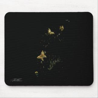 Golden Butterflies Mouse Pad