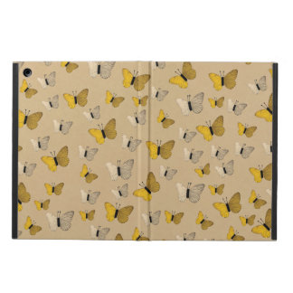 Golden Butterflies Rustic Gold Yellow Butterfly Case For iPad Air