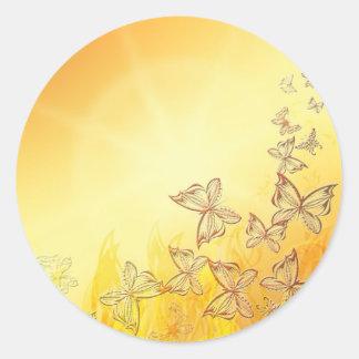 Golden Butterflies Stickers