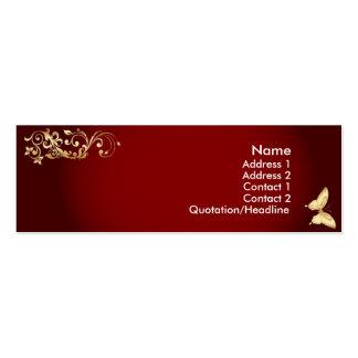 Golden Butterfly Business Card Template