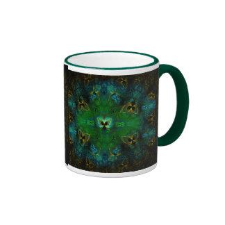 Golden Butterfly green EBSQ Art  Mug