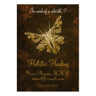 Golden Butterfly - Holistic healing Chubby Large Business Card