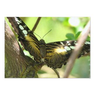 Golden Butterfly Invitation
