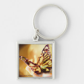 Golden Butterfly Keychain by Carol Zeock