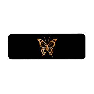 Golden Butterfly Label