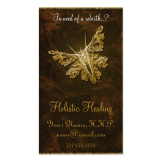 Golden Butterfly (model 2) - Holistic healing Double-Sided Standard Business Cards (Pack Of 100)