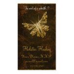 Golden Butterfly (model 2) - Holistic healing Business Card Templates