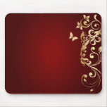 Golden Butterfly Mouse Pad