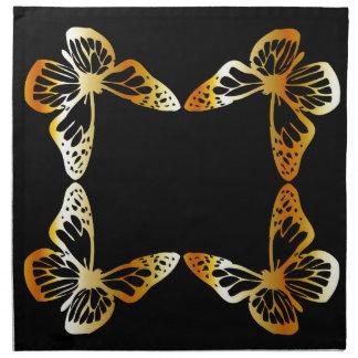 Golden butterfly napkin