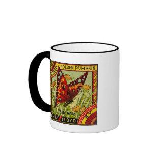 Golden Butterfly Ringer Coffee Mug
