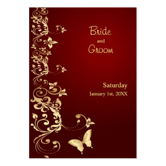 Golden Butterfly Save the Date for Weddings Large Business Card