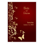 Golden Butterfly Save the Date for Weddings Large Business Cards (Pack Of 100)
