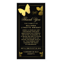 Golden Butterfly Thank You Sympathy Card