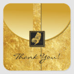 Golden Butterfly Wedding Favor Thank You Stickers
