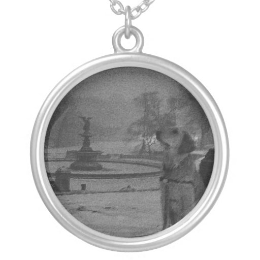 Golden by Bethesda Fountain-Central Park Necklace