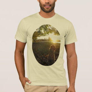 Golden by The Reservoir at Sunset Men's tshirt