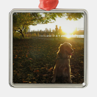 Golden by The Reservoir at Sunset Ornament