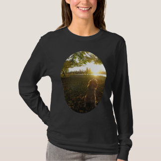 Golden by The Reservoir at Sunset women's shirt
