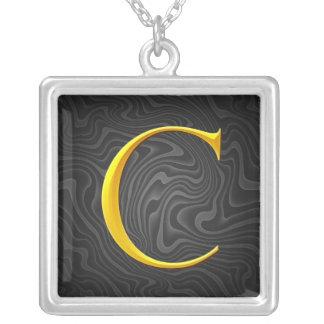 Golden C Monogram Necklaces