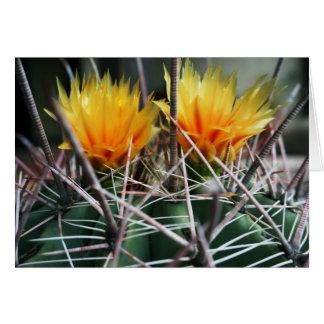 Golden Cactus Blooms Card