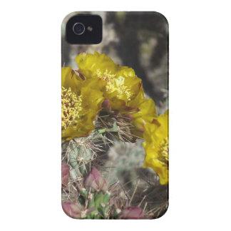 Golden Cactus Flowers iPhone 4 Case-Mate Case