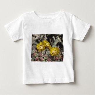 Golden Cactus Flowers Tee Shirts