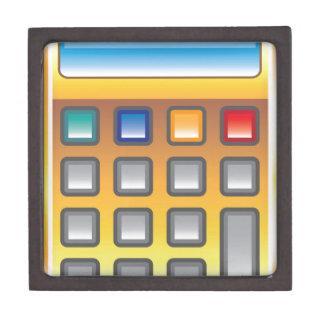Golden Calculator Vector Keepsake Box