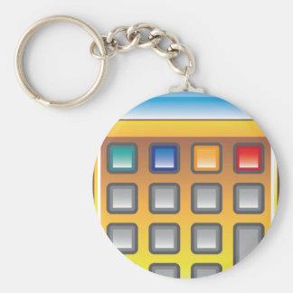 Golden Calculator Vector Keychain