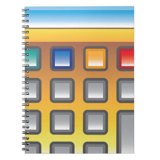 Golden Calculator Vector Notebook