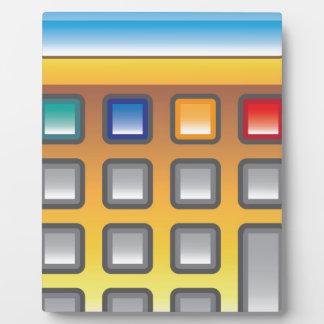 Golden Calculator Vector Plaque