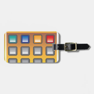 Golden Calculator Vector Tag For Luggage
