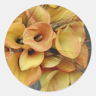Golden Calla Lilies Sticker/Seals Classic Round Sticker