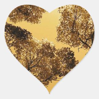Golden Camphor Heart Sticker