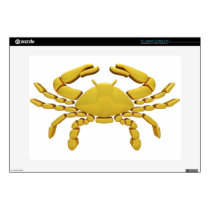 "Golden Cancer 15"" Laptop Decal"
