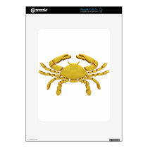Golden Cancer Decal For iPad