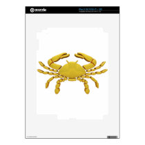 Golden Cancer Decal For iPad 2