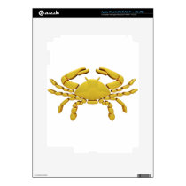 Golden Cancer Decal For iPad 3
