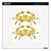 Golden Cancer Decal For PS3 Controller