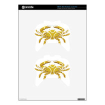 Golden Cancer Xbox 360 Controller Decal