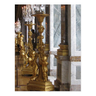 Golden Candelabras, Chateau de Versailles Postcard