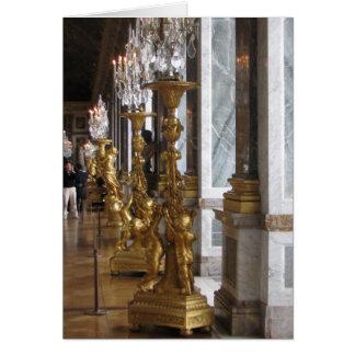 Golden Candelabras, Chateau de Versailles Stationery Note Card