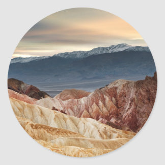 Golden Canyon at Sunset Classic Round Sticker