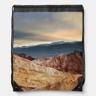 Golden Canyon at Sunset Drawstring Backpack
