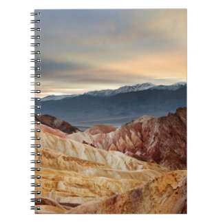 Golden Canyon at Sunset Spiral Notebook