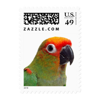 Golden-capped conure postage stamps