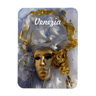 Golden Carnival Mask Magnet
