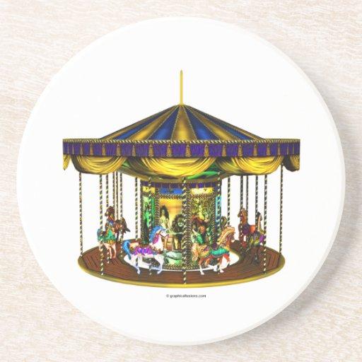 Golden Carousel Coaster