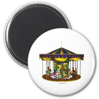 Golden Carousel Magnet