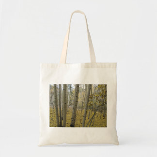 Golden Carpet Beneath a Grove of Quaking Aspen Tote Bag