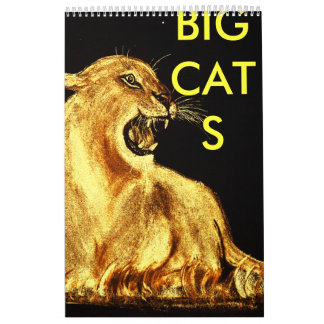 golden cat, BIGCATS Calendar